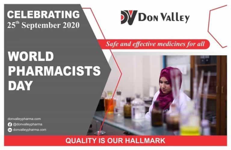 Don Valley Pharma celebrates World Pharmacists Day 2020